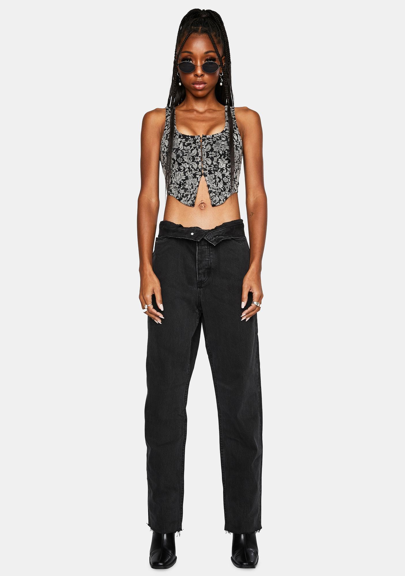 THRILLS Faded Black Paige Denim Jeans
