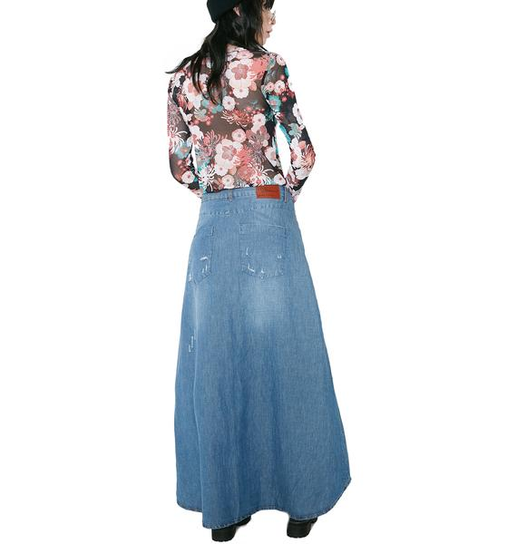One Teaspoon California Blue Mrs. Carter Skirt