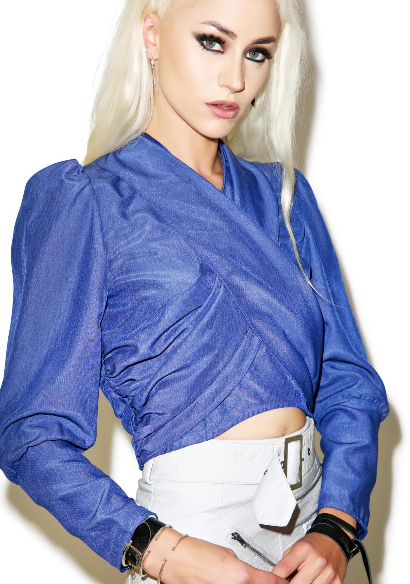 Nightwalker Twisted Cropped Shirt
