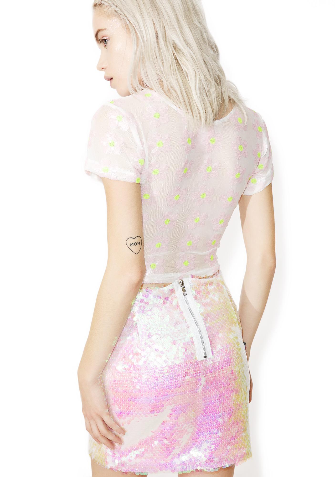 Jaded London Mermaid Sequin Mini Skirt