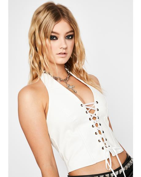 Pure Winning Title Lace-Up Halter