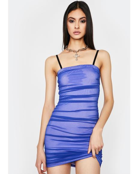 Royal I'm Good Luv Ruched Dress