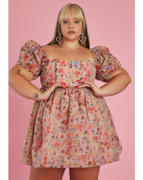 Be My Winding Wheel Babydoll Dress