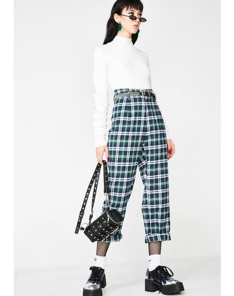 Geeked Out Plaid Pants