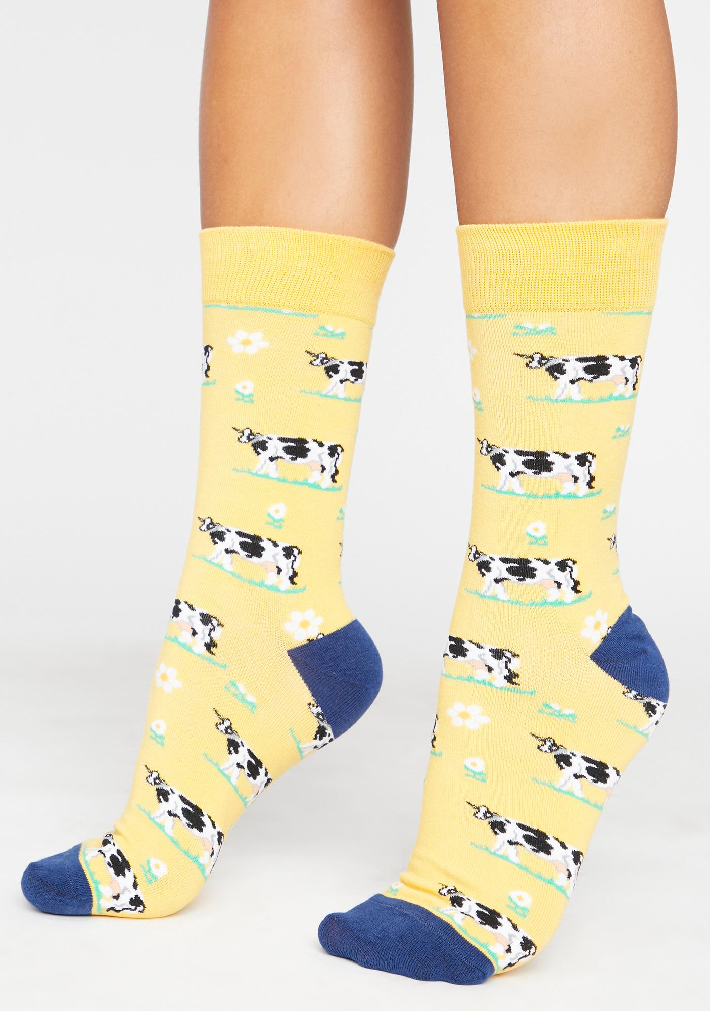 Moo'dy Bish Crew Socks