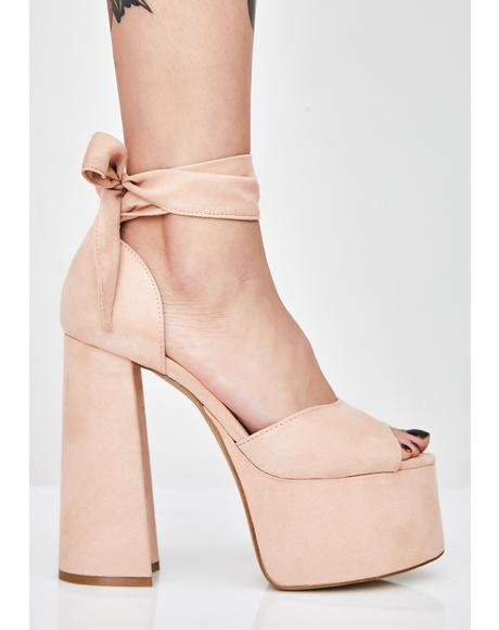 Blush Night Cap Platform Heels