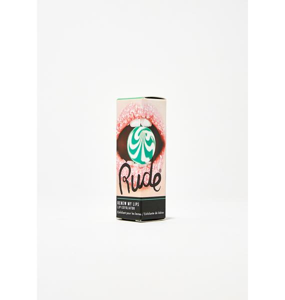 Rude Cosmetics Mint Renew My Lips Lip Exfoliator