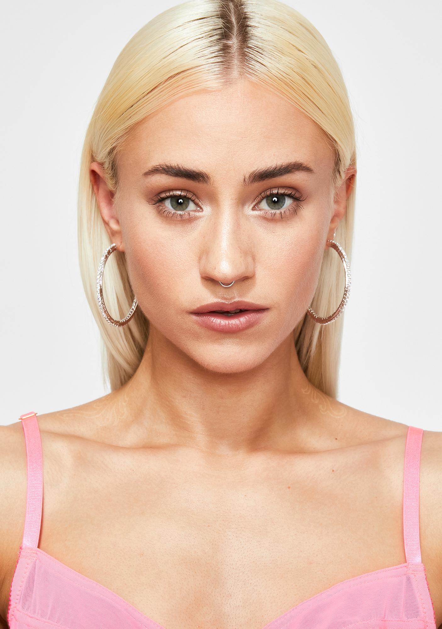 Glam Supply Rhinestone Earrings