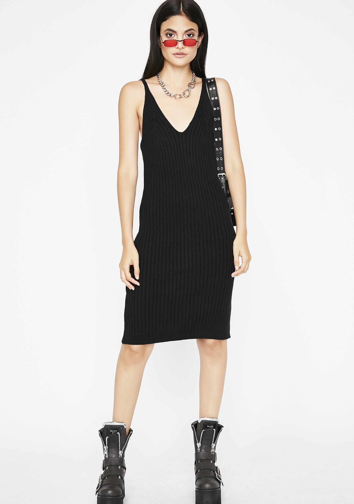 Do No Wrong Ribbed Dress