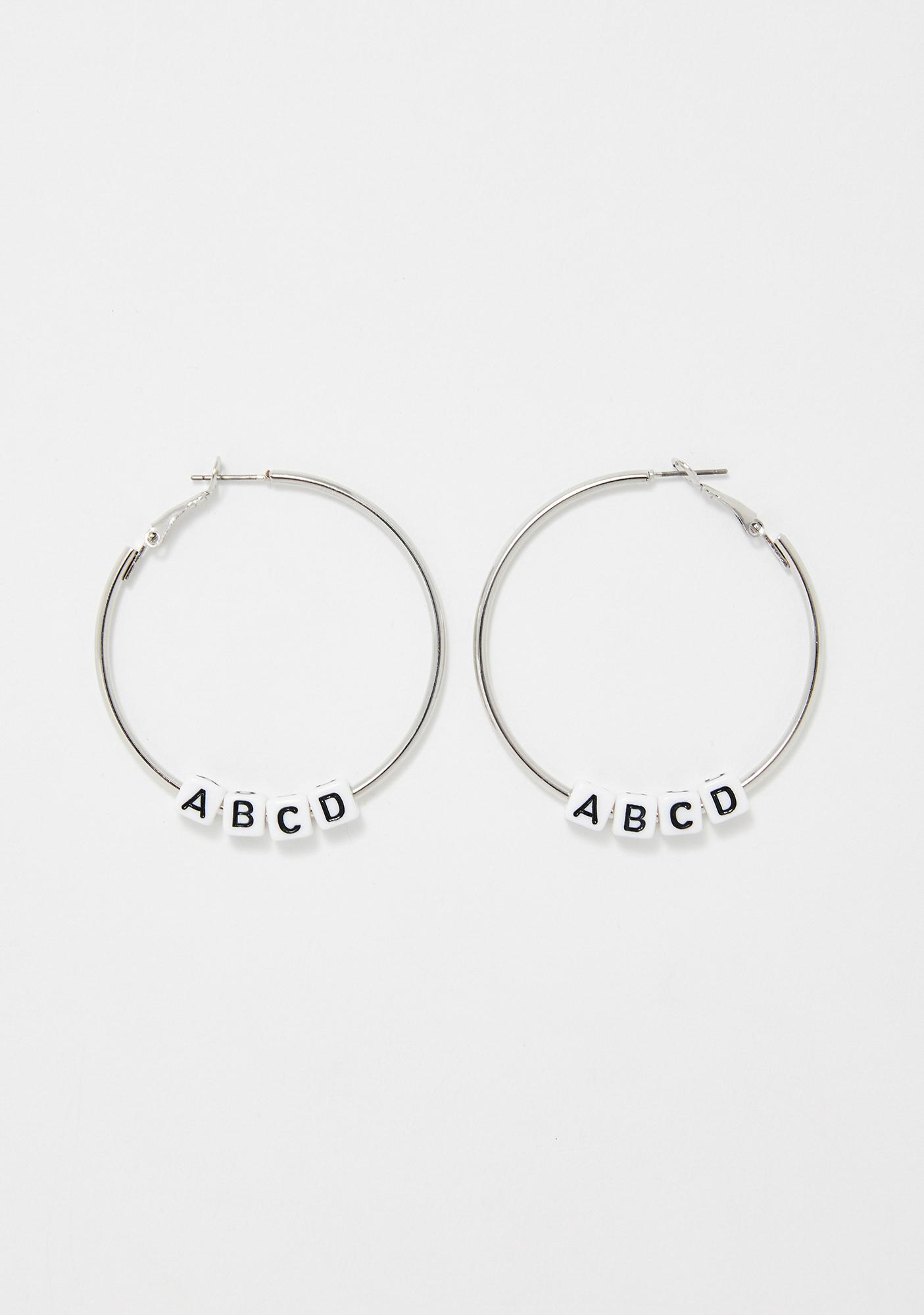 ABC Convo Hoop Earrings