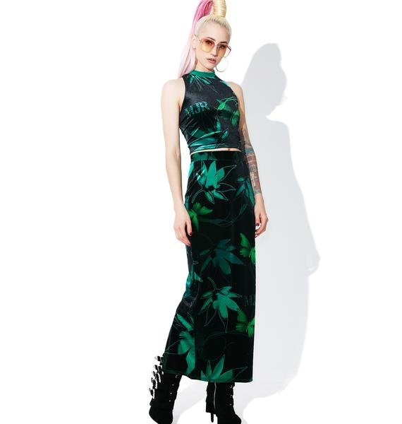 Estranja Velvet Dress Set