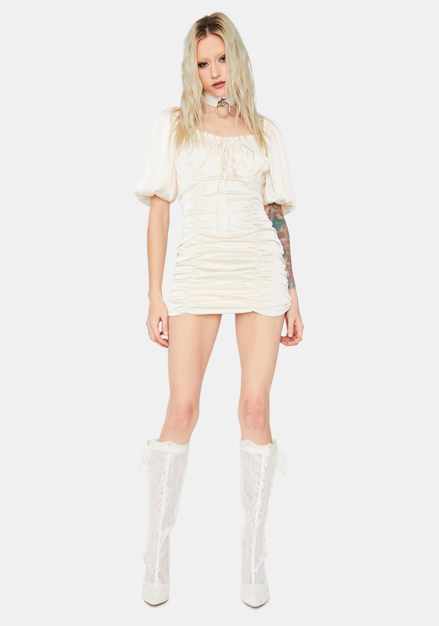 Angel Love Me Right Ruched Dress