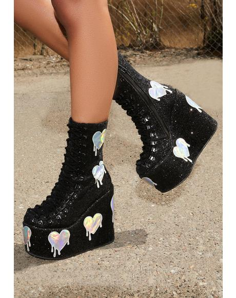 Psychedelic Love Traitor Boots