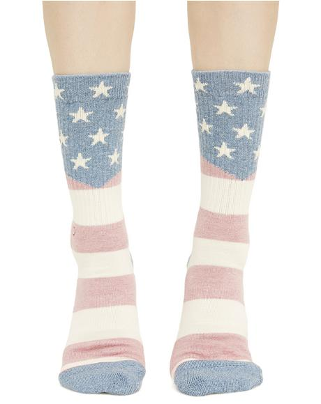 Miss Independent Crew Socks