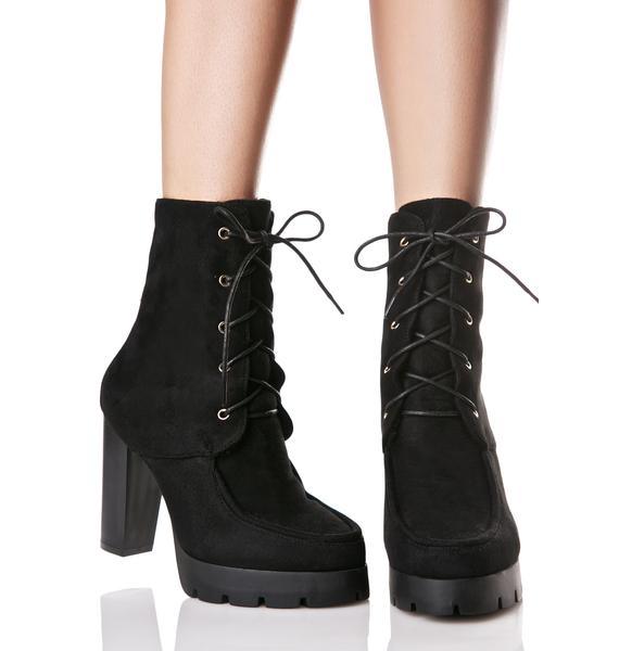 Rundown Lace-Up Booties