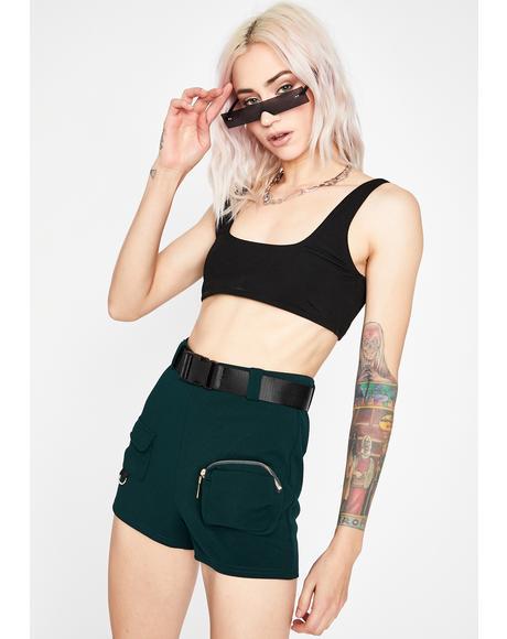 Emerald Killa Baddie Cargo Shorts