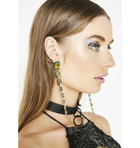 Ariel's Grotto Iridescent Gem Earrings