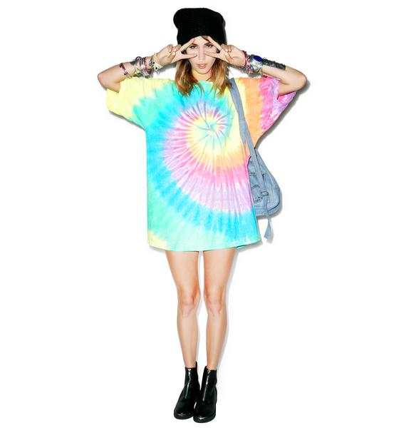 Liquid Blue Dazed Spiral Tee