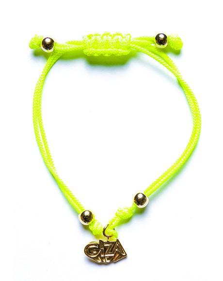 x Giza 3D Logo Micro Charm Bracelet