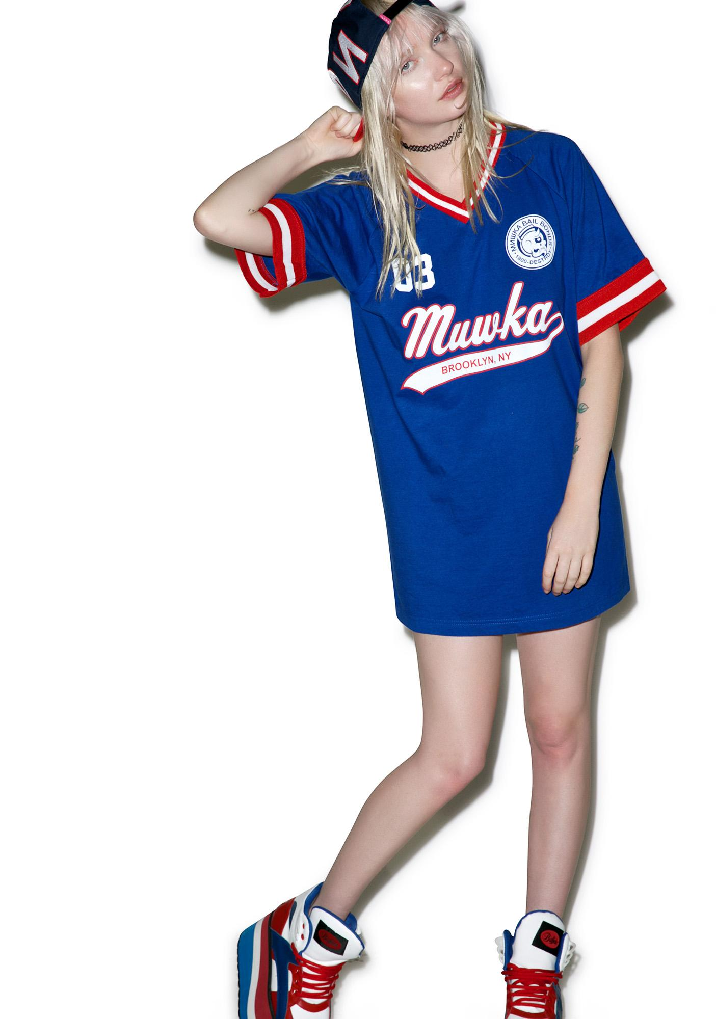 Mishka Crowbar Hotel Script Baseball Jersey