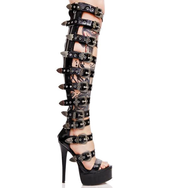Current Mood Western Bondage Bitch Heels