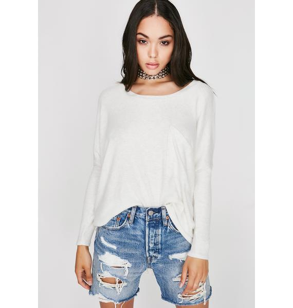 Low Key Slouch Top