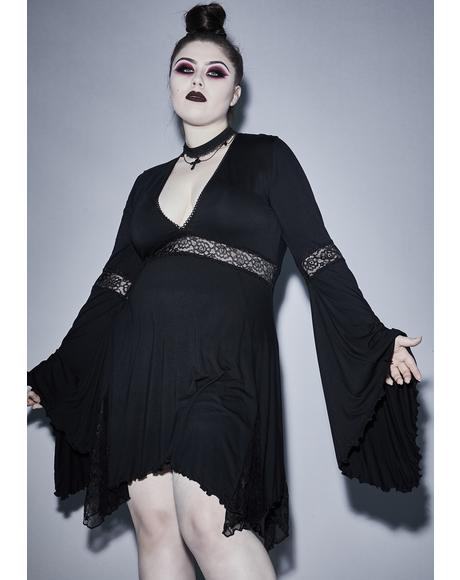 Ur Funeral Parade Bell Sleeve Dress