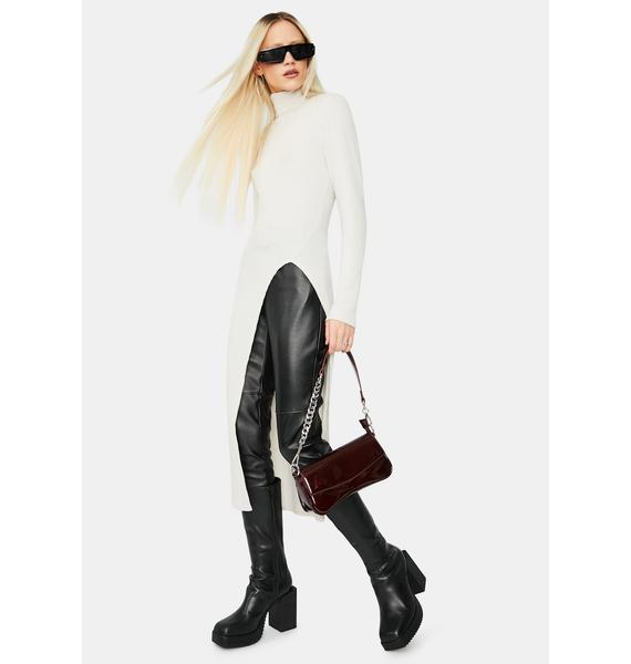 Sly Life Turtleneck Mid Length Sweater