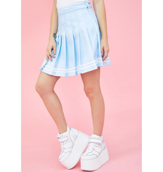Sugar Thrillz Cheer Bliss Pleated Mini Skirt