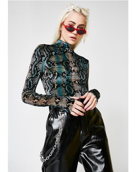 Snakeskin Kenzie Bodysuit