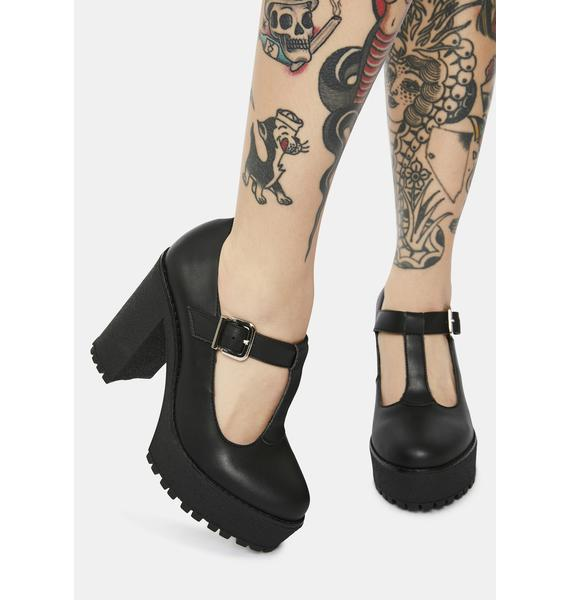 Altercore Lizzy Vegan Leather Mary Jane Heels