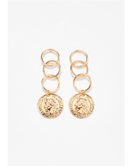Flip A Coin Dangle Earrings
