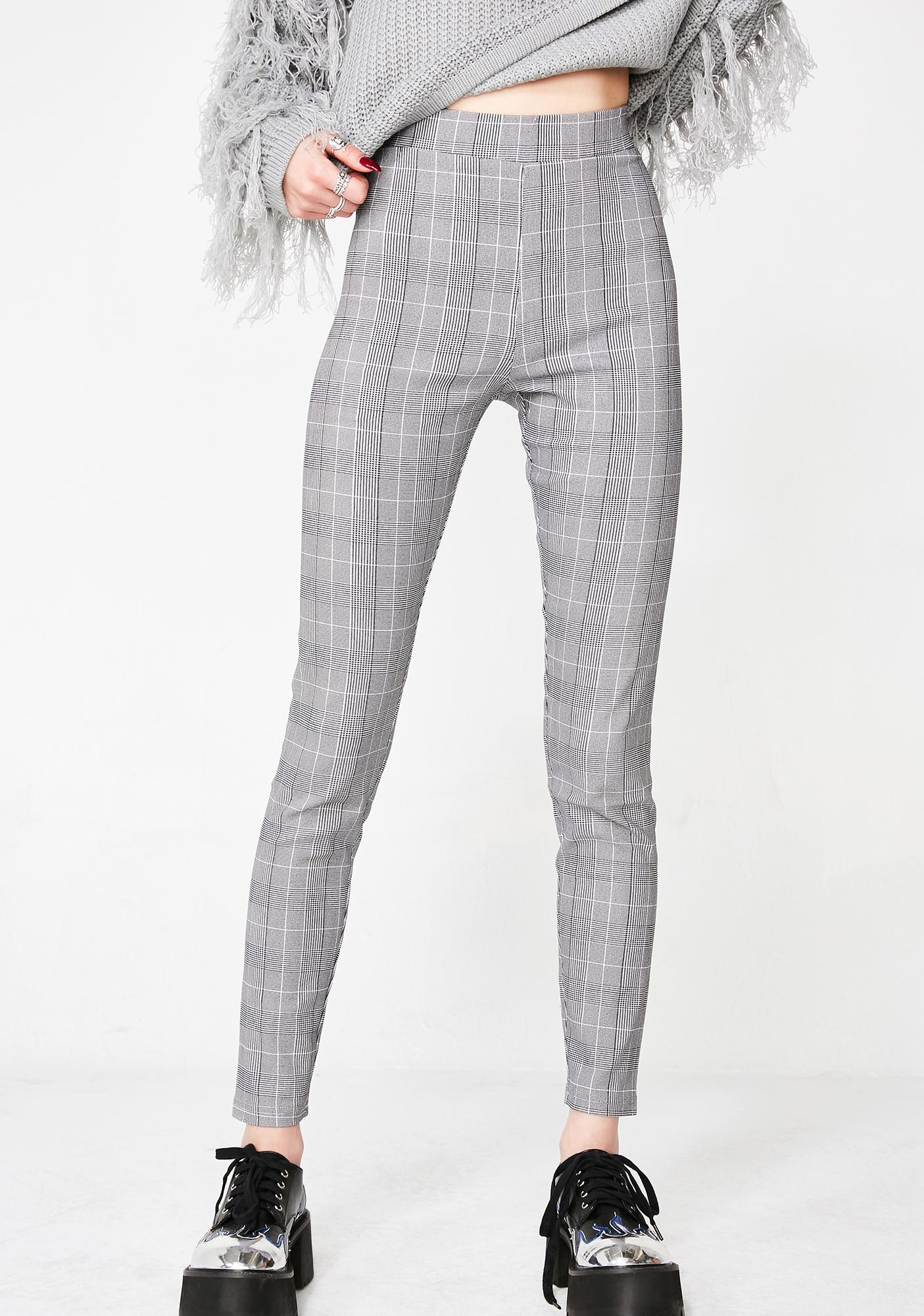 Stoned Almost Home Plaid Leggings