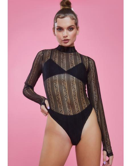 Sultry Twist Lace Bodysuit