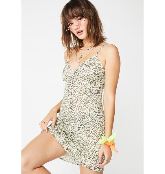 Lime Hey Kitty Gal Leopard Dress