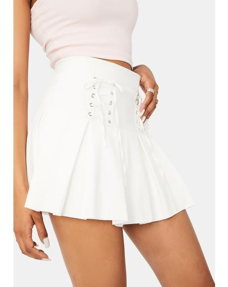 Pure Modern School Girl Pleated Skort