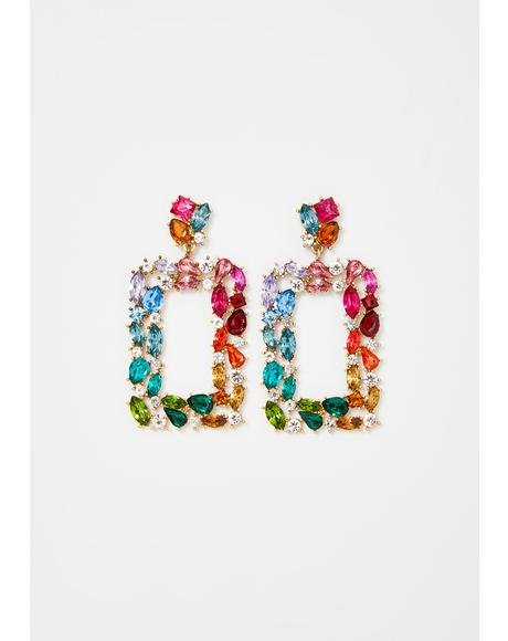 Groovy Opulent Lover Jeweled Earrings
