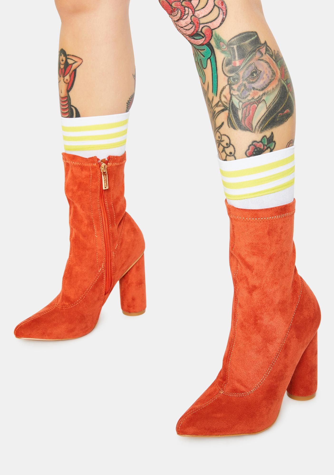 Rust Sexpot Ankle Boots