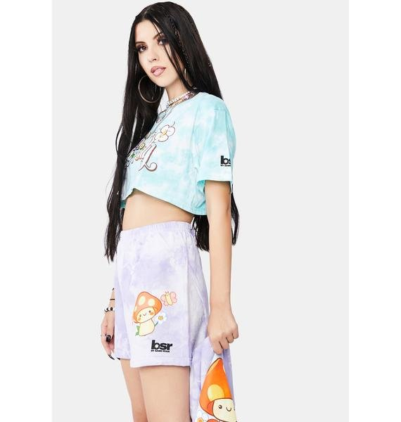 By Samii Ryan Feelin Good Tie Dye Sweat Shorts
