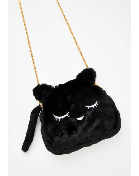 Kitty Dearest Fuzzy Handbag