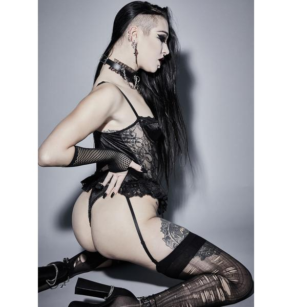Widow Familiar Rituals 3-Piece Lingerie Set