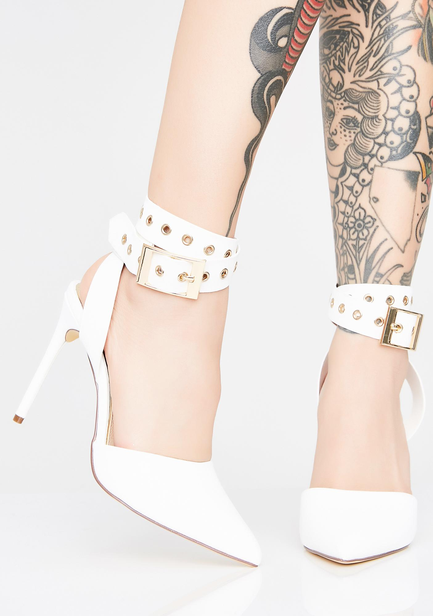Icy In Charge Belted Heels