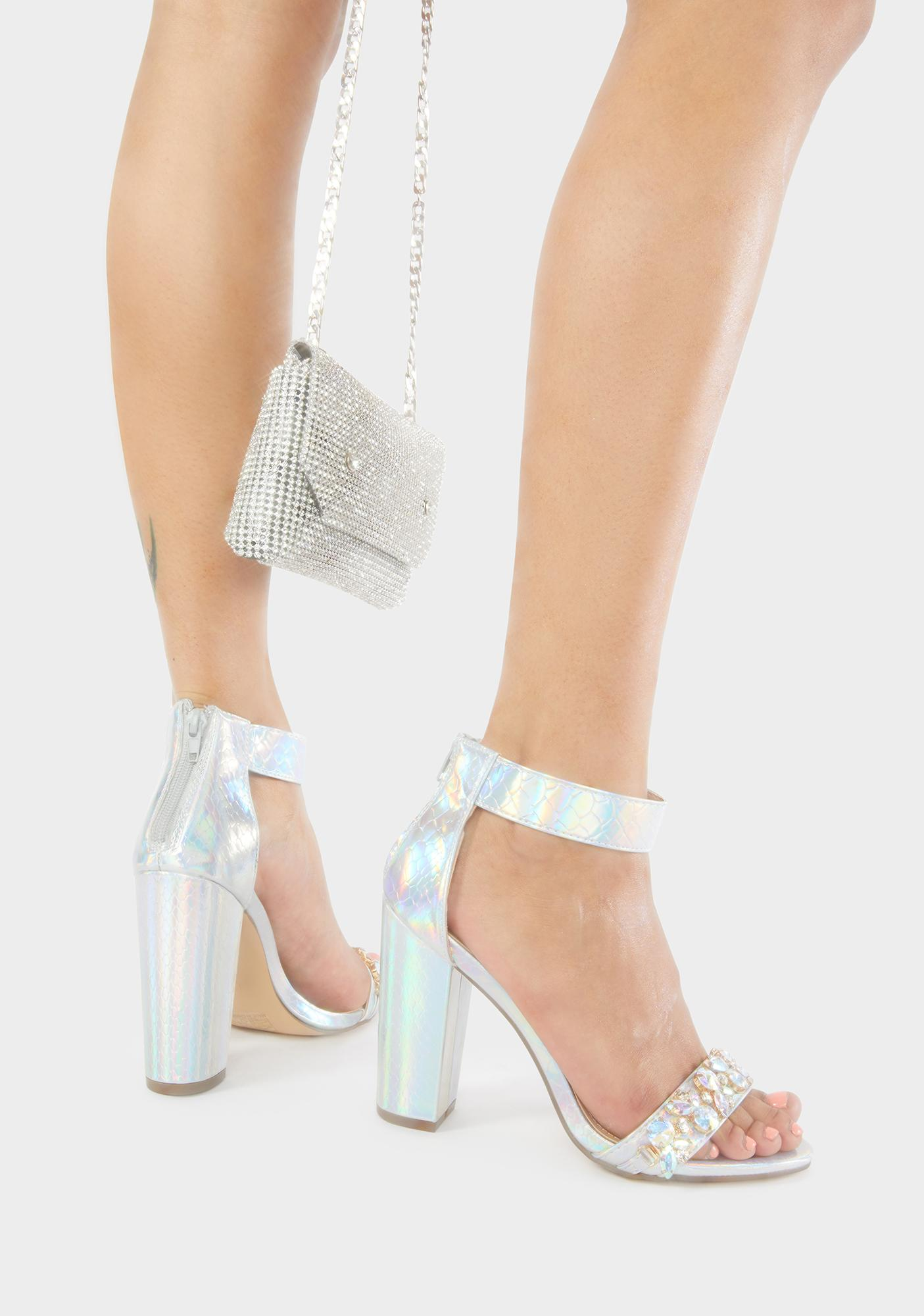 All Glammed Up Holographic Heels