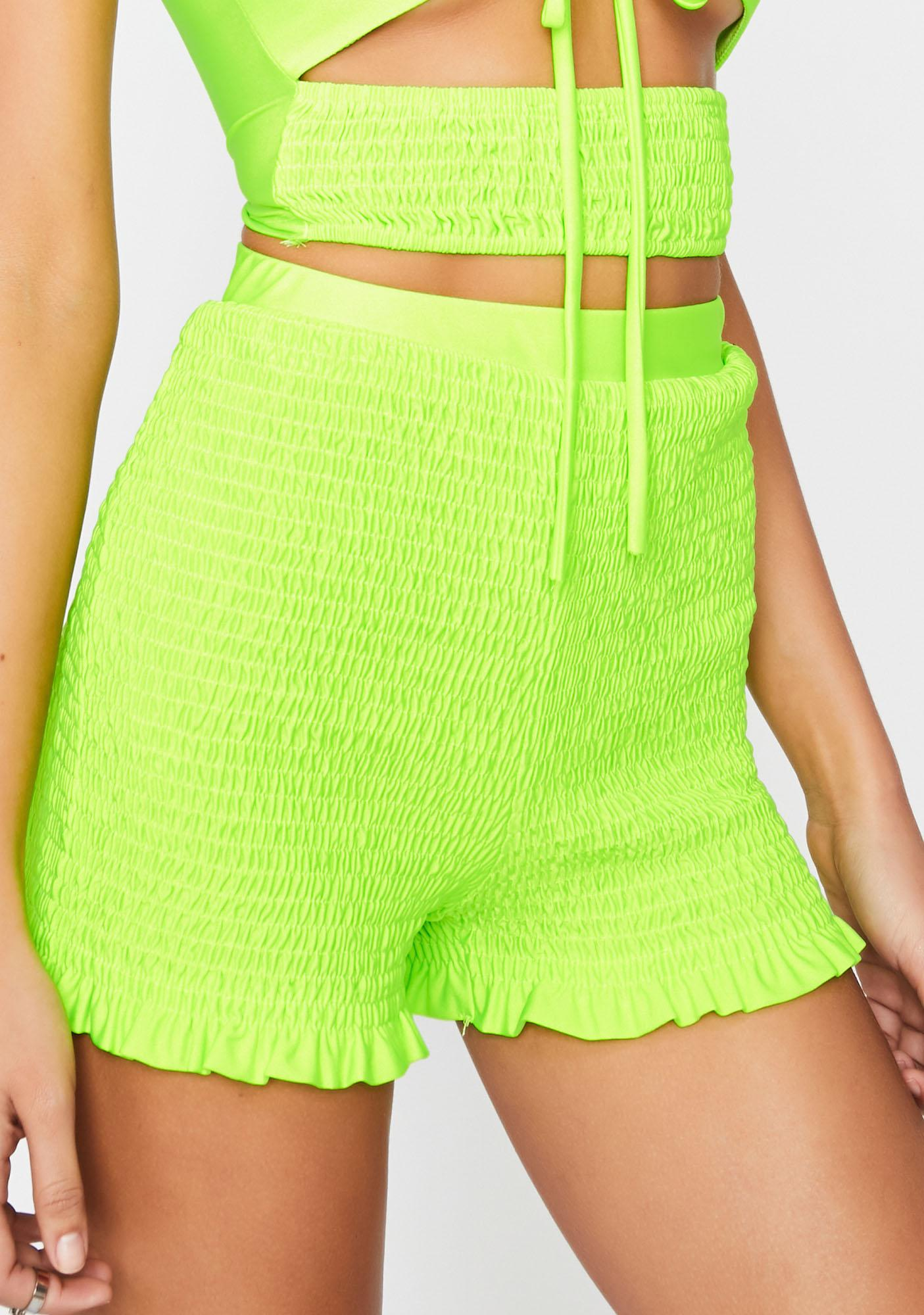 Sonic Risque Resolution Smocked Shorts