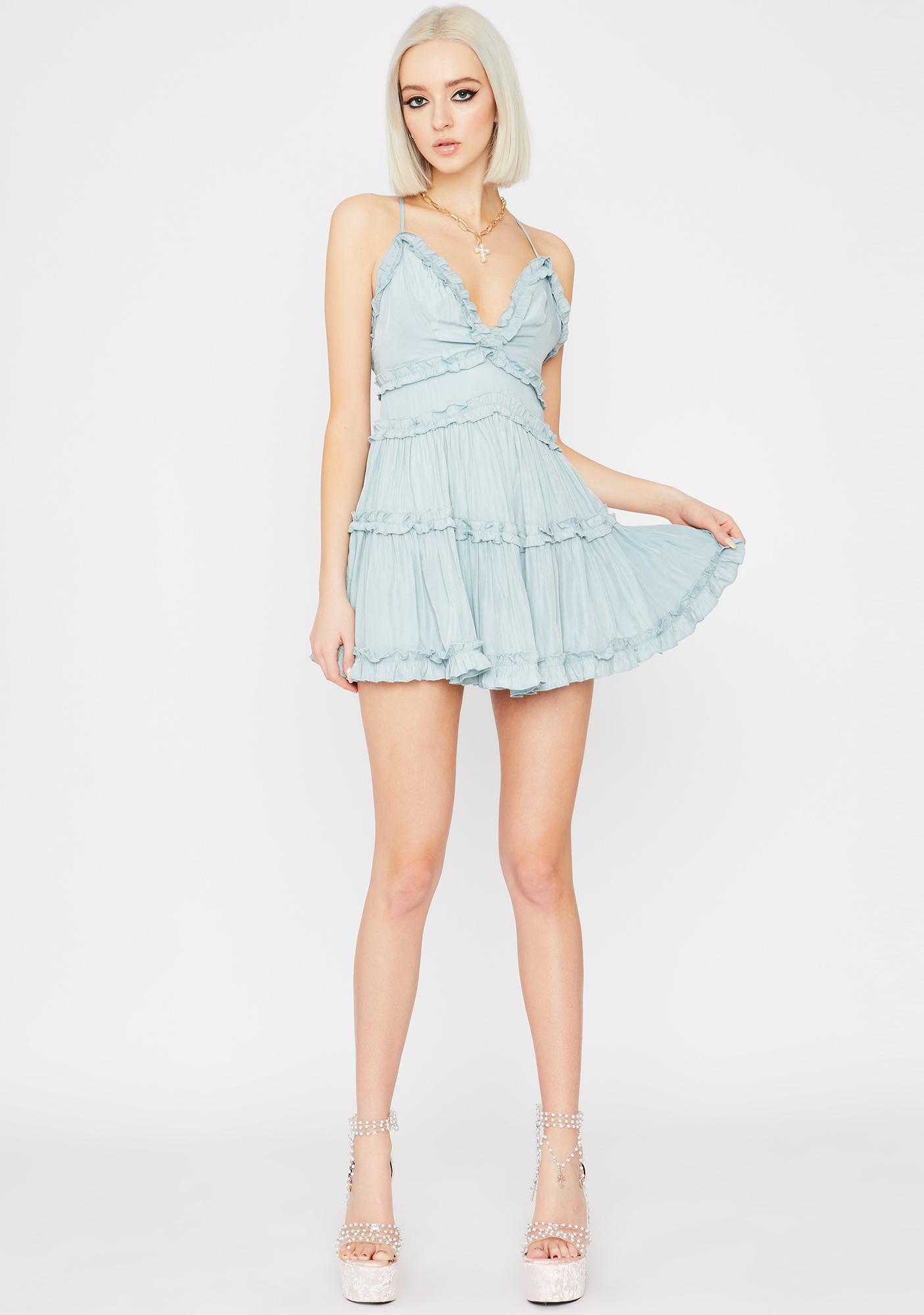 Sky Ruffle Me Up Mini Dress