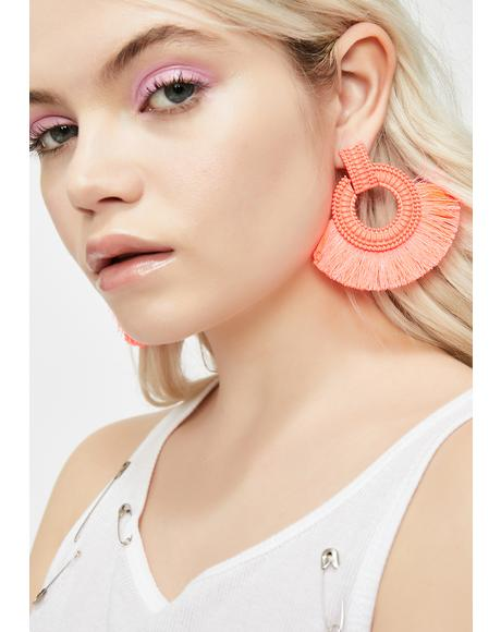 Sweet Sonic Vixen Fringe Earrings