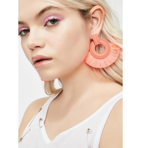 Sweet Sonic Vixen Fringe Earrings