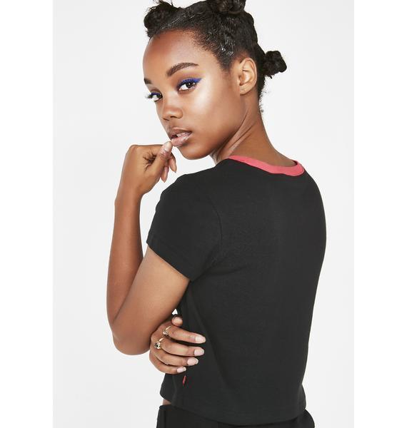 Dickies Girl Racer Cropped Ringer T-Shirt