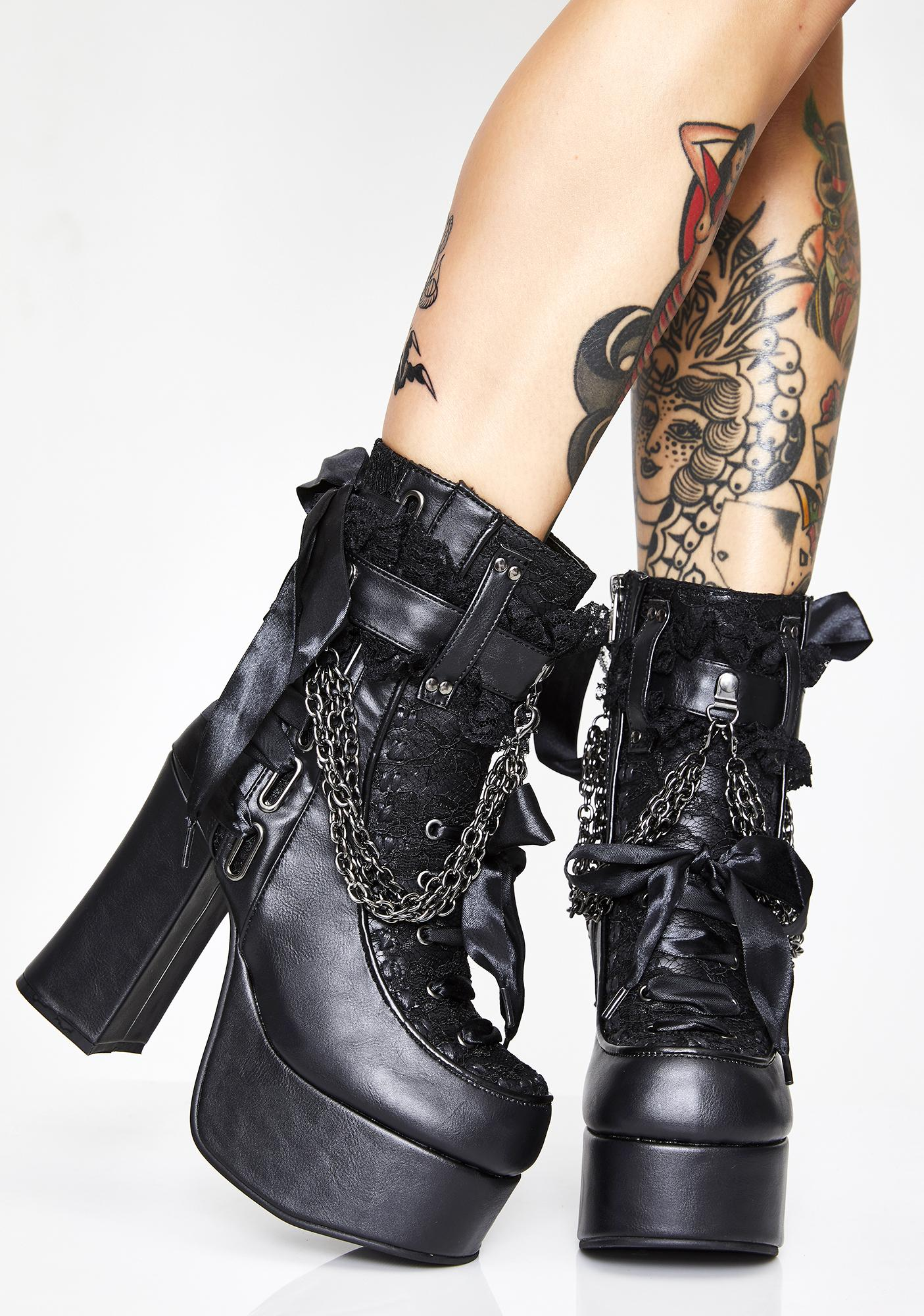 Demonia Charade Shock Ankle Boots