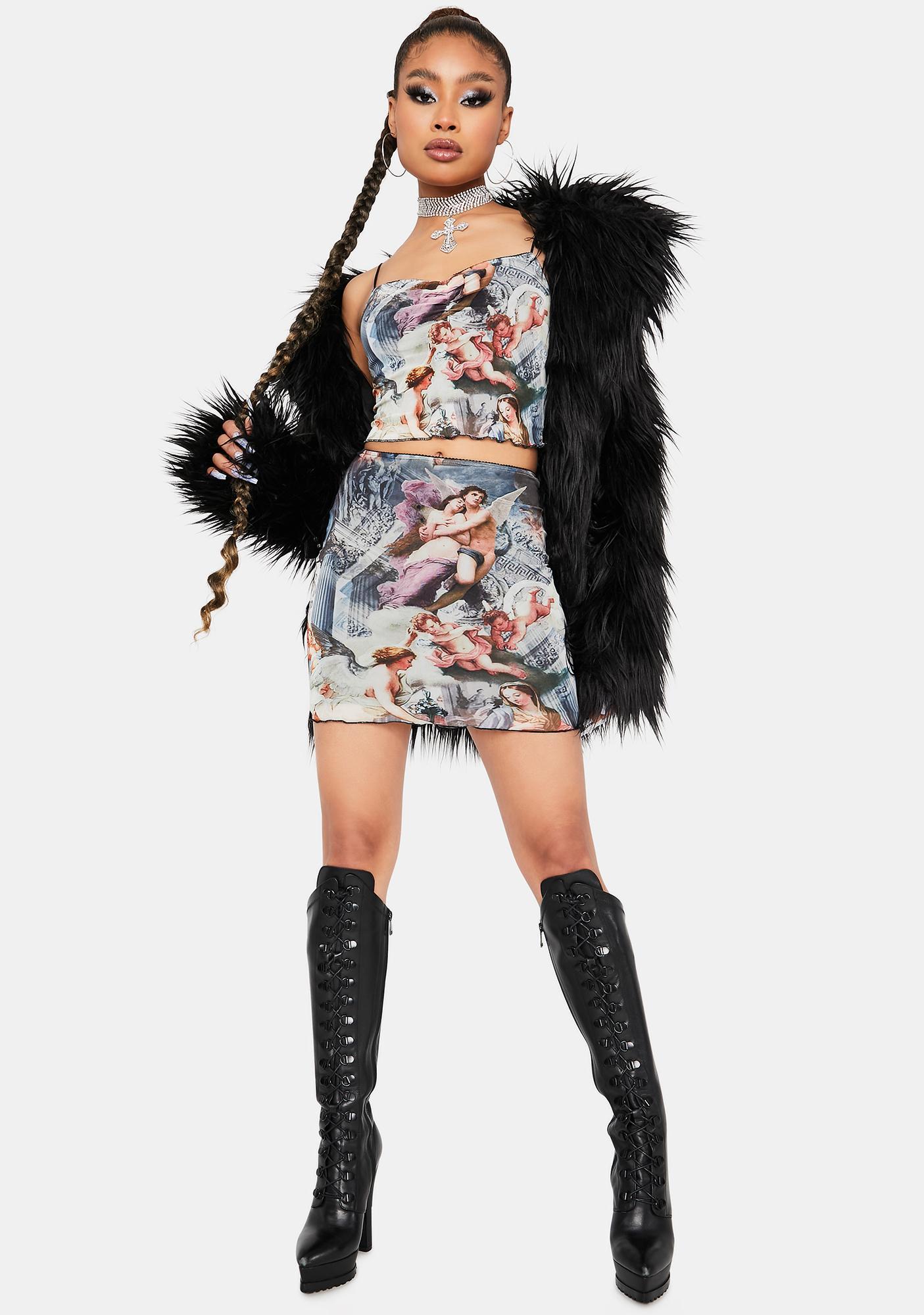 Divine Spirit Mini Skirt